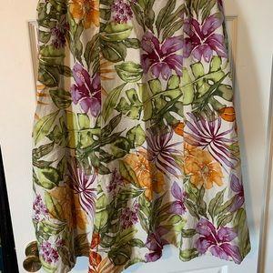Plus sized Talbots circle skirt